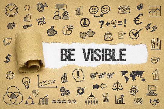 Be Visible / Papier mit Symbole