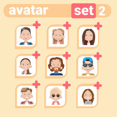 Profile Icon Male And Female Avatar Set, Man Woman Cartoon Portrait, Casual Person Face Collection Flat Vector Illustration