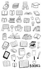 Books doodles