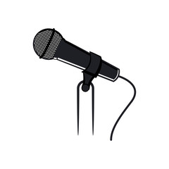 Microphone with stand symbol