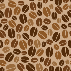 seamless background with colored coffee beans