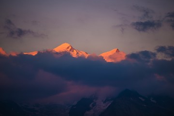 Wall Mural - Mont Blanc at Sunset