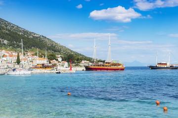 Croatia Brac Bol harbour