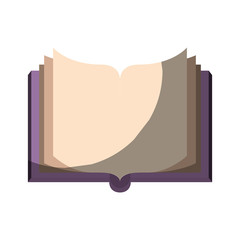 realistic colorful shading image of front view open book vector illustration