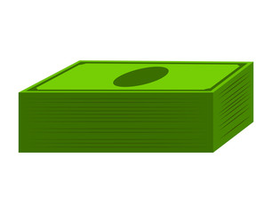 Money dollar note stack vector symbol icon design.