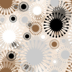 abstract floral seamless pattern in gold and silver shades