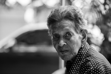 Lonely senior woman ,elderly,
