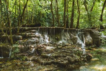 Huai Mae Khamin Waterfall in Kanchanaburi,Thailand.