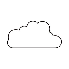 sketch silhouette cloud shape in cumulus icon vector illustration
