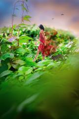 Fantastic photo manipulation illusion with a beautiful natural landscape