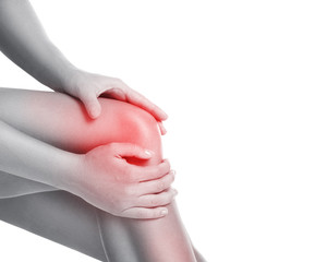 Woman with pain in her knee