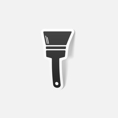 realistic design element: paint brush