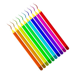 Vector image of colored pencils.