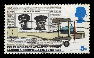 aeroplane Vickers Vimy, 50 years since the first non stop Atlantic flight, Alcock and Brown