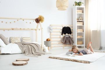 White spacious dreamy bedroom