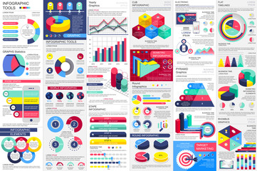 Infographic elements data visualization vector