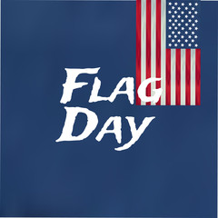Flag day badge background Happy Flag Day