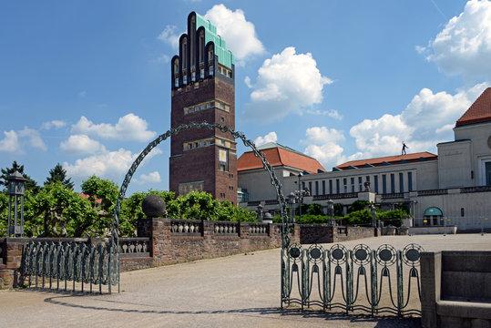 Mathildenhöhe Darmstadt mit Hochzeitsturm