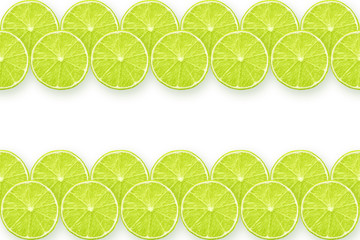 lime slices stripes