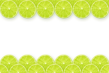 lime slices frame