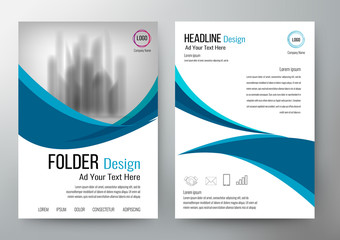 folder design flyer template vector