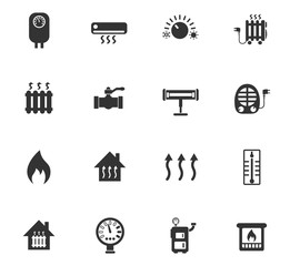 heating icon set