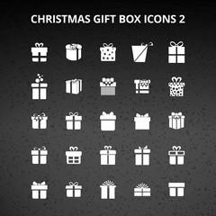 Christmas Gift Box Icons