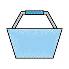 basket shopping isolated icon vector illustration design