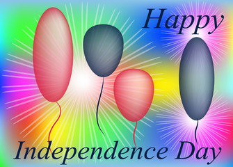 Stylish greeting card for Independence Day