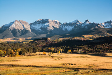 Autumn Scenery in the Rocky Mountains of Colorado.