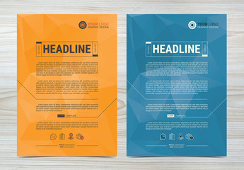 Multipurpose Flyer Layout with Geometric Element 4