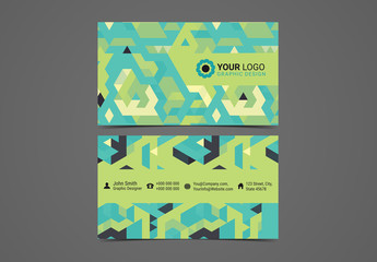 Multipurpose Business Card Layout with Geometric Elements 1