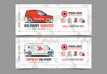 Small Delivery Service Flyer Layout 1