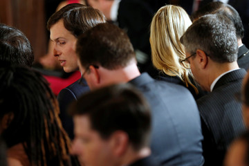 Kushner attends an Trump's announcement of proposed reforms to the U.S. air traffic control system during an event at the White House in Washington