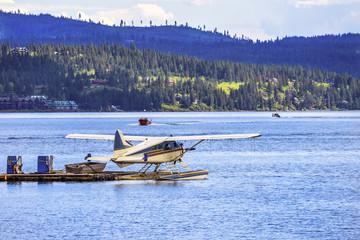 Airplane Seaplane Reflection Lake Coeur d' Alene Idaho