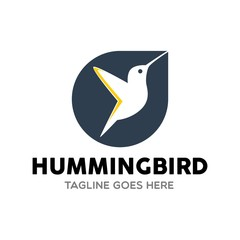 Unique Hummingbird Logo Template