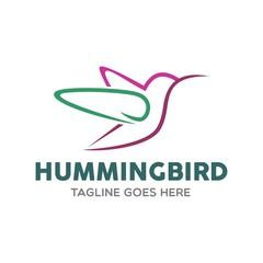 Unique Hummingbird Logo Template