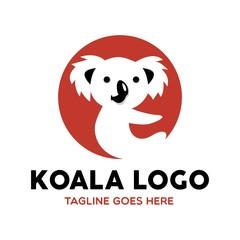 Fototapeta premium Unique Koala Logo Mascot Character Template