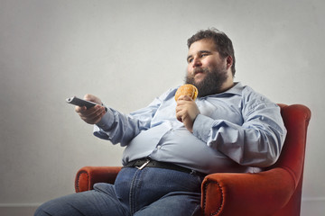 Bad habits of obese man