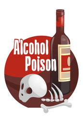 Alcohol poison. Horror-filled picture