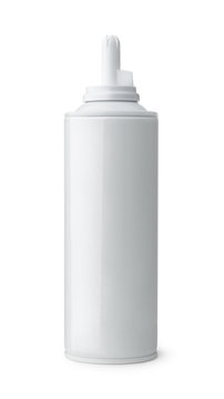 Open blank whipped cream can