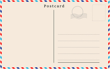 Vector postcard with beige paper texture .