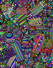 Abstract background from different types of ice cream