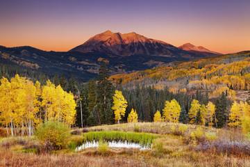 Wall Mural - Autumn mountain landscape, Colorado, USA