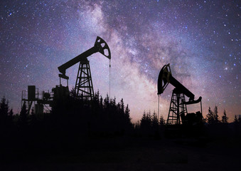 Pump in the background of stars in the Carpathians
