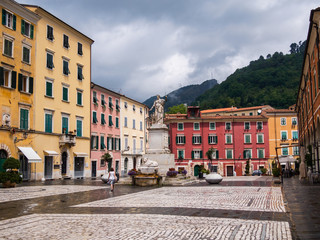 Alberica Square in the city of Carrara