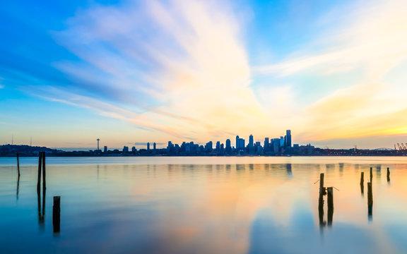 Sunrise over Elliot Bay
