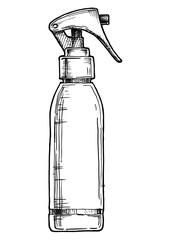 illustration of hair spray
