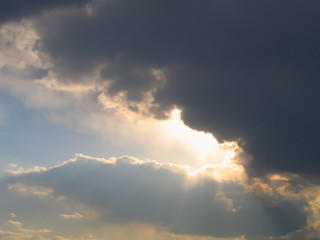 Clouds and Rays of Sunlight