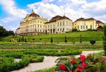 Residenzschloss in Ludwigsburg, blühendes Barock